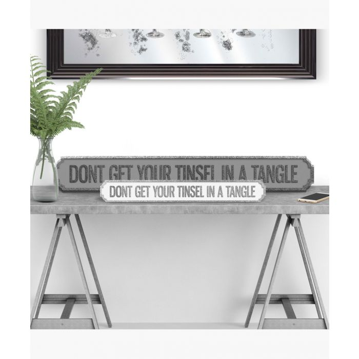 Image for Don't get your tinsel in a tangle sign