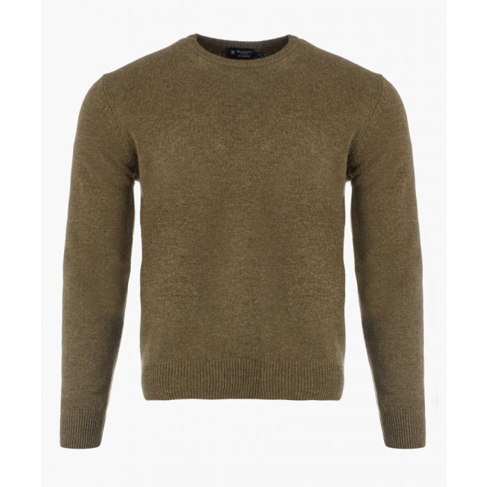 Image for Khaki knit long sleeved jumper