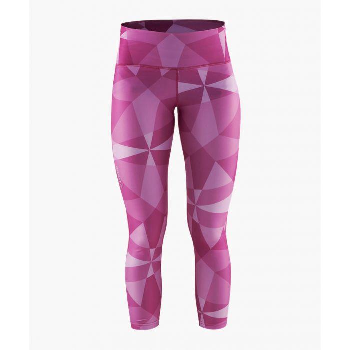 Image for Womens pure purple geometric leggings