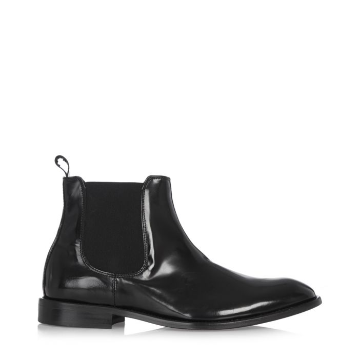 Image for Black patent leather Chelsea boots