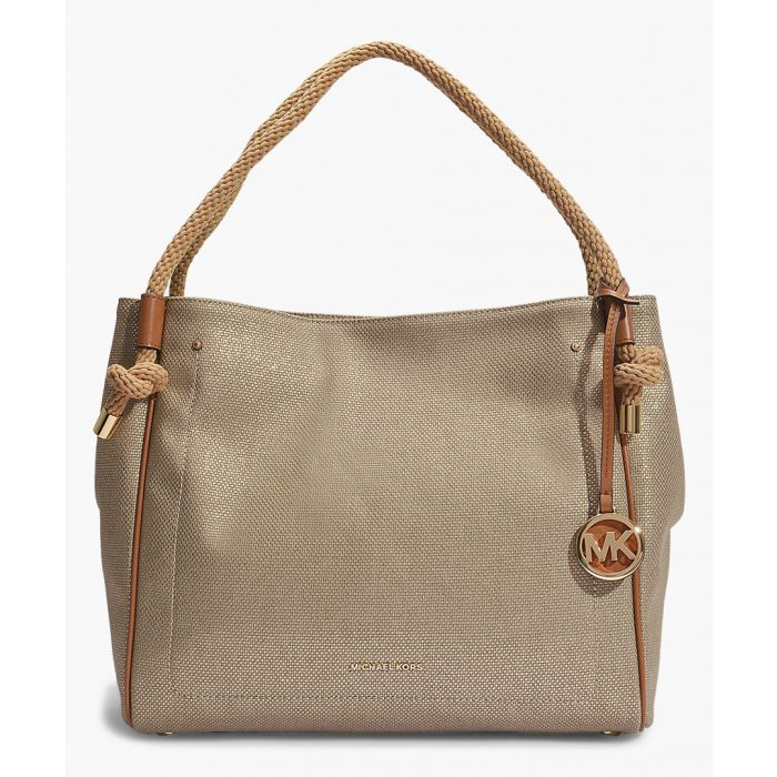 Image for Isla Gold-tone canvas Grab Bag