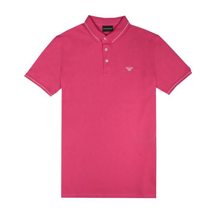 Image for Fuschia cotton blend polo shirt