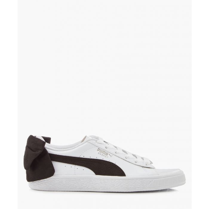 Image for Basket bow white leather trainers