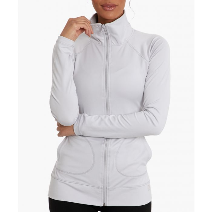 Image for Campbell white zip jacket
