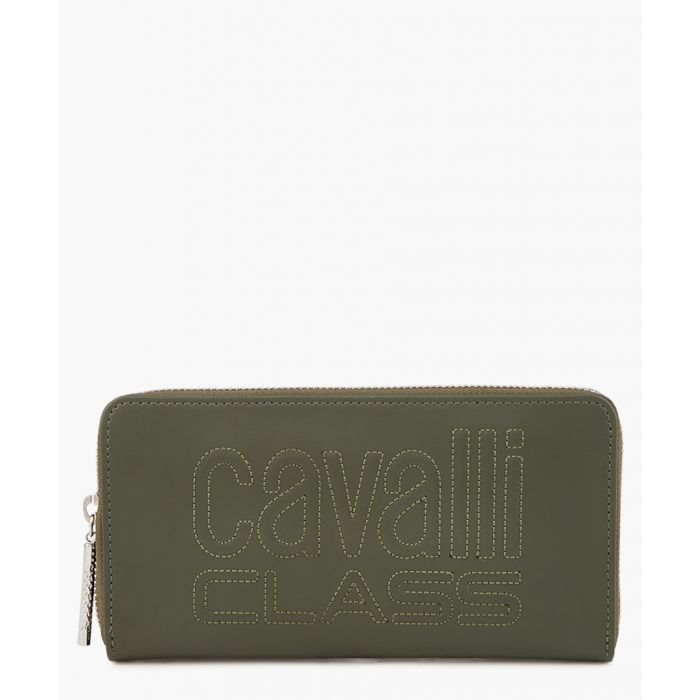 Image for Viviane green leather wallet