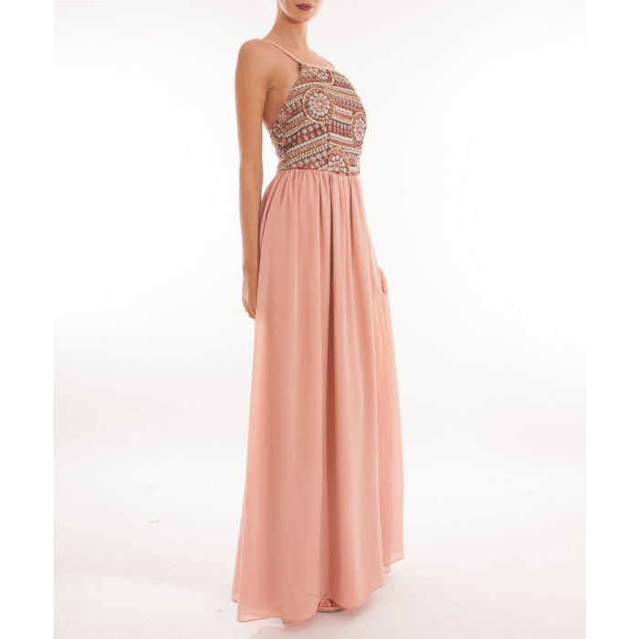 Image for Blush sequin detail strappy maxi dress