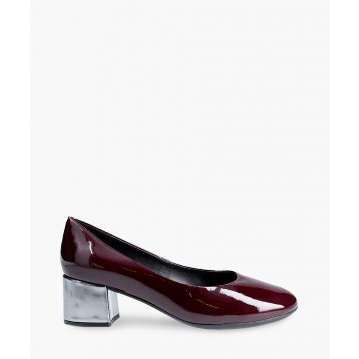 Image for Headmistress burgundy leather slip-ons