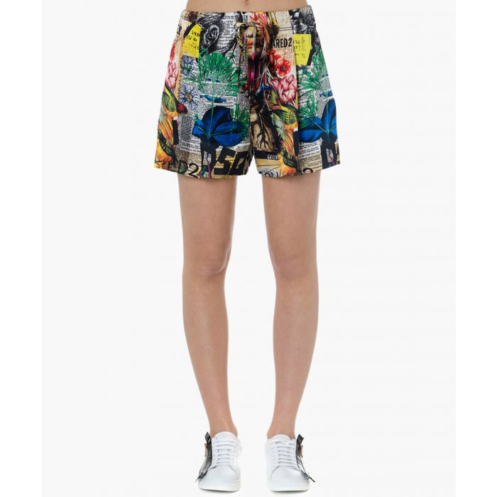 Image for news collage pure silk shorts