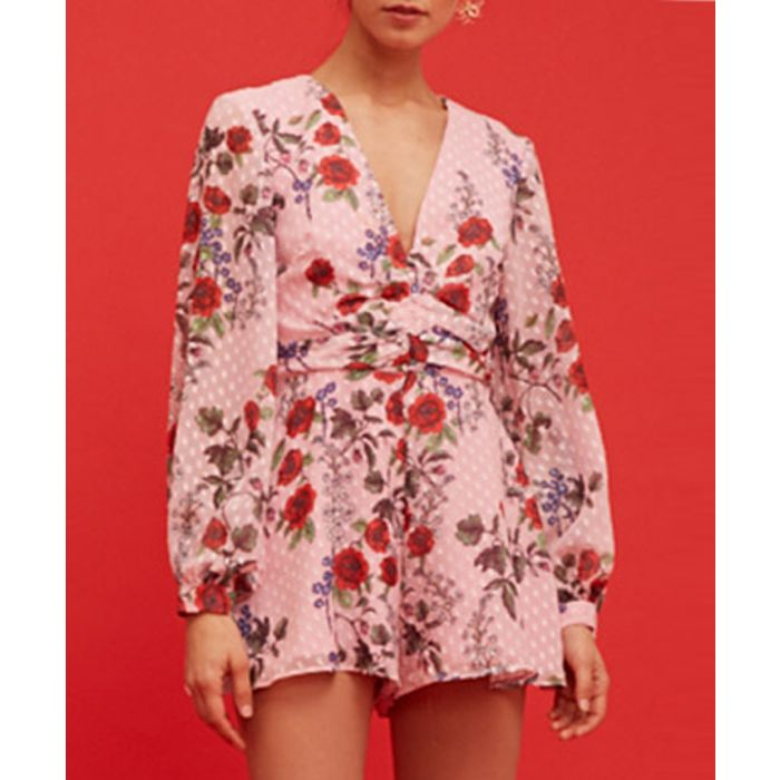 Image for Need You Now pink floral playsuit