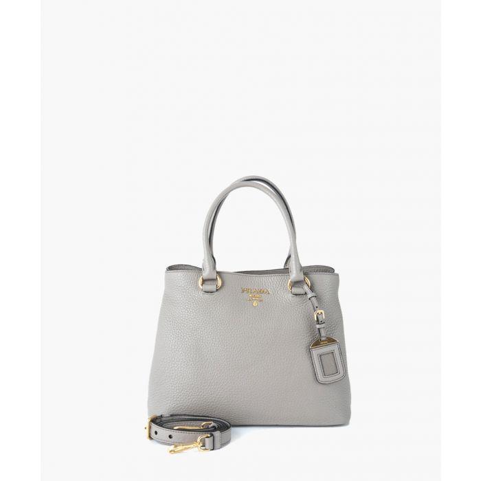 Image for Phenix grey leather grab bag