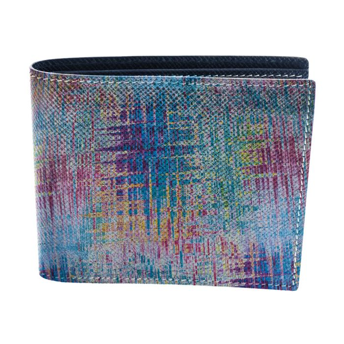 Image for Graffiti Colorama multi-coloured leather patterned wallet