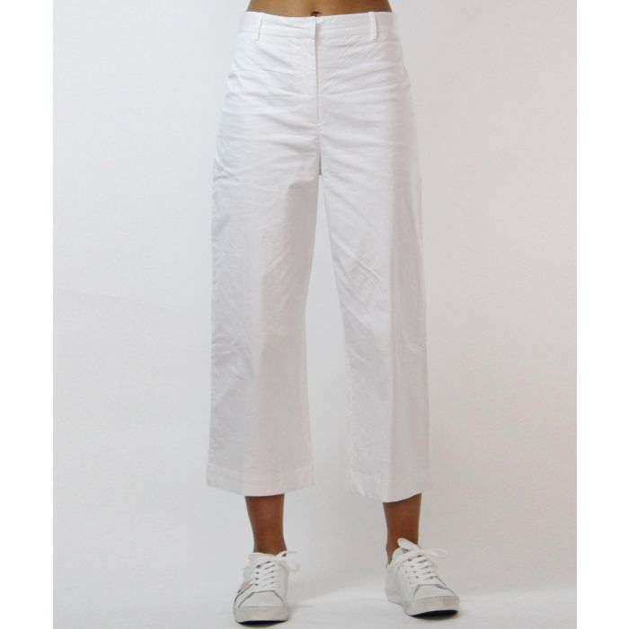 Image for Milan white linen trousers