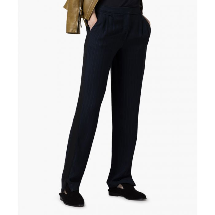 Image for Midnight pinstripe slim trousers