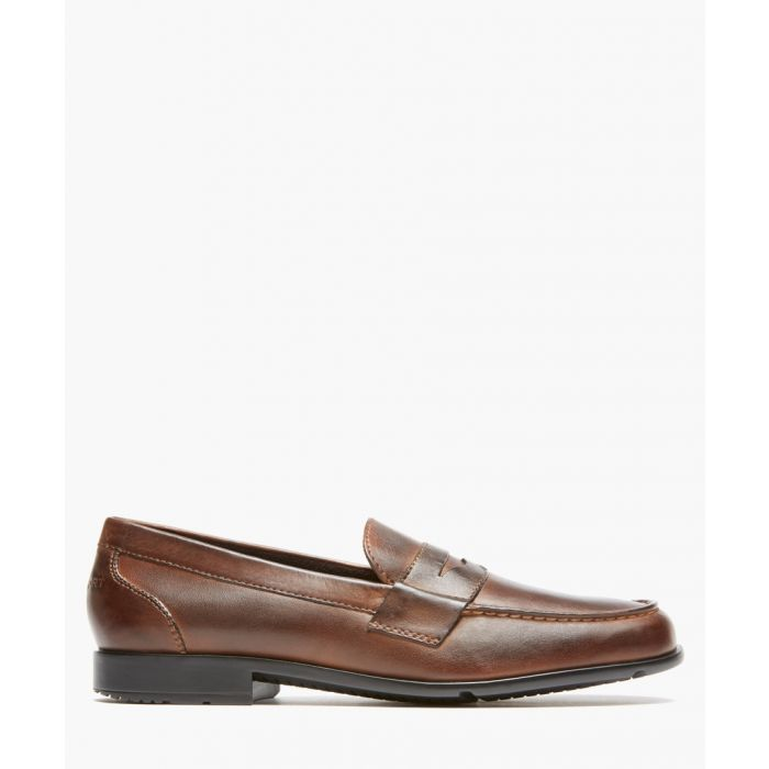 Image for Penny dark brown leather loafers