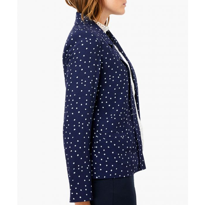 Image for Sydney navy spotted jacket
