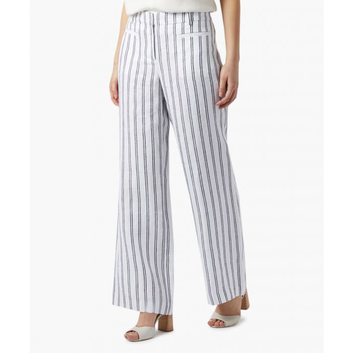 Image for George blue stripe linen trousers