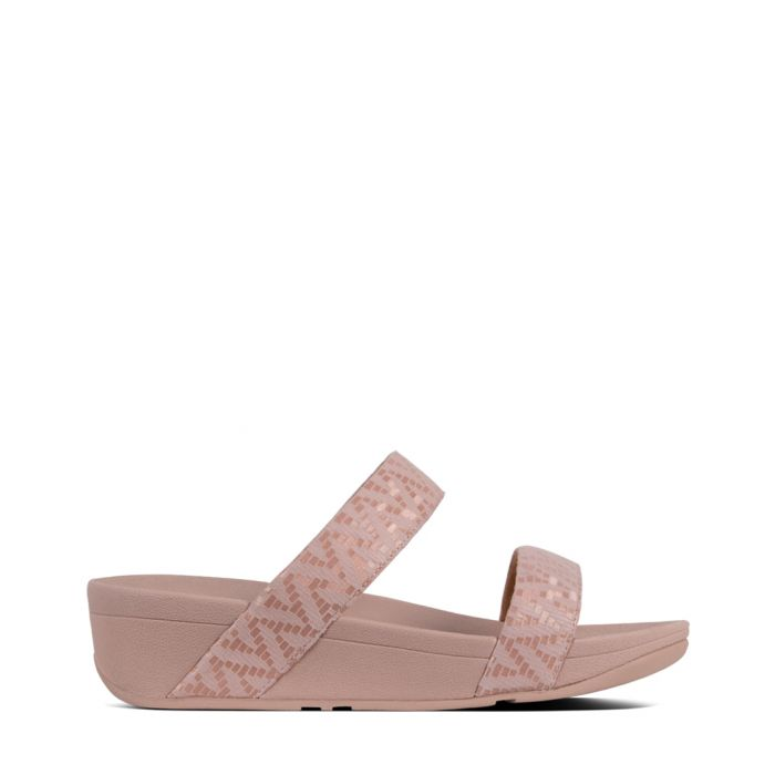 Image for Lottie Chevron oyster pink suede sandals