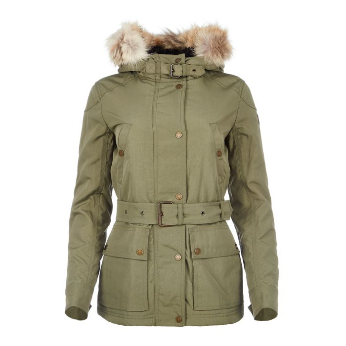 Image for Fairland sage green fur trim jacket