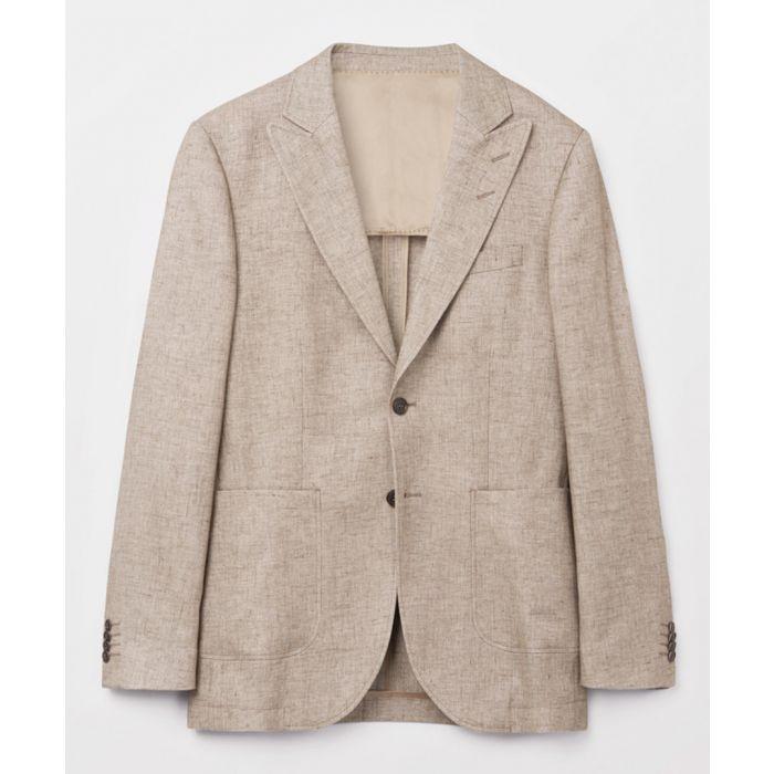 Image for Beige linen blend blazer