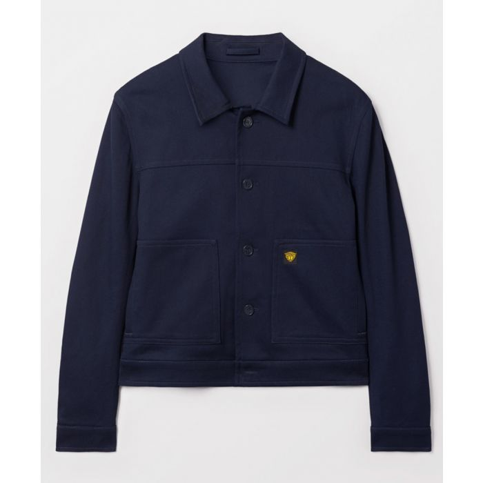 Image for Navy cotton button-up jacket
