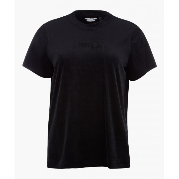 Image for Boxy black logo T-shirt