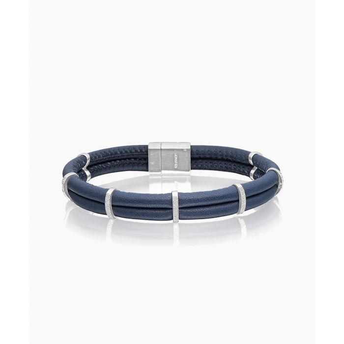 Image for Modena Uno Blue and silver-plated bracelet