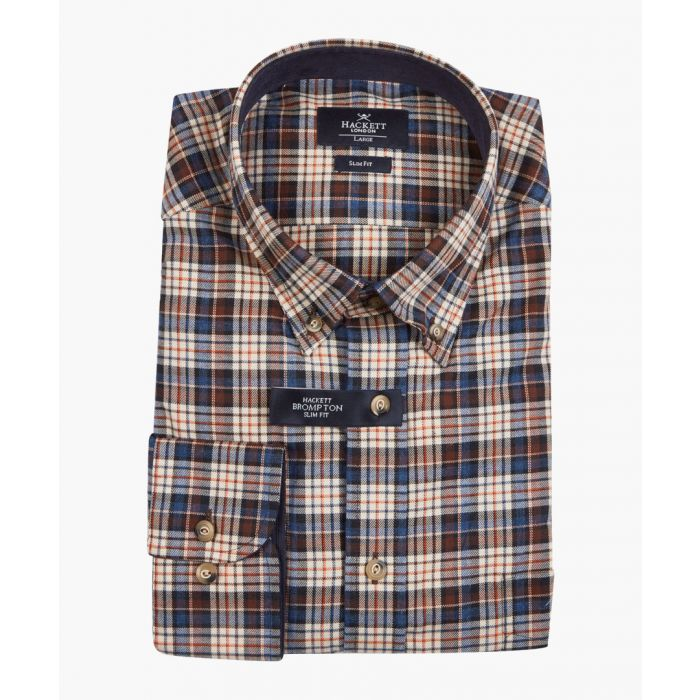 Image for Woodlands brown plaid shirt