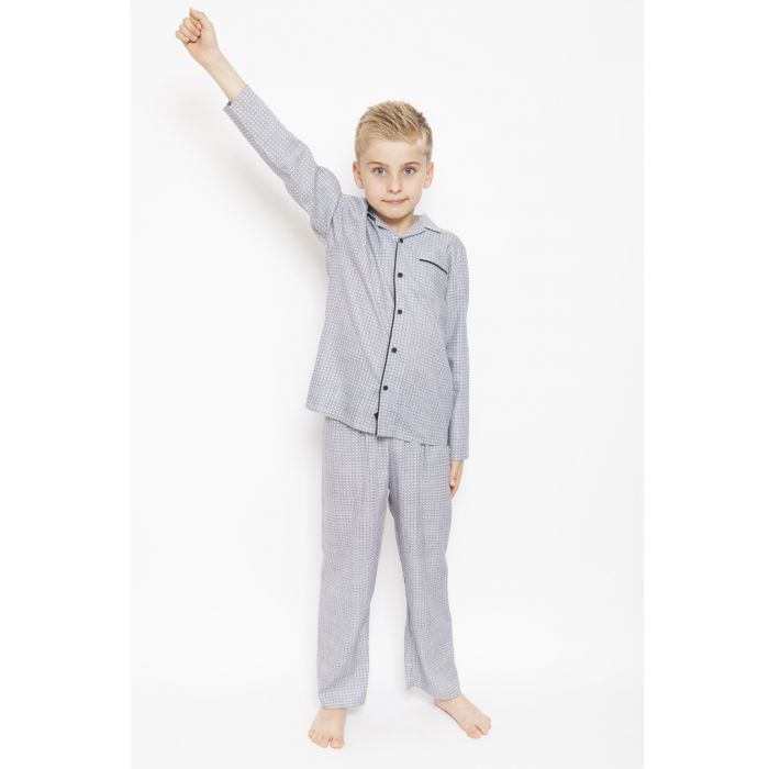 Image for 2pc Aspen white geometric pyjama set