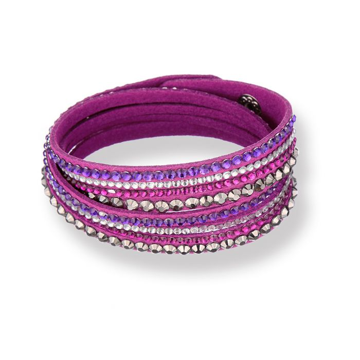 Image for Chloe purple leather wrap bracelet