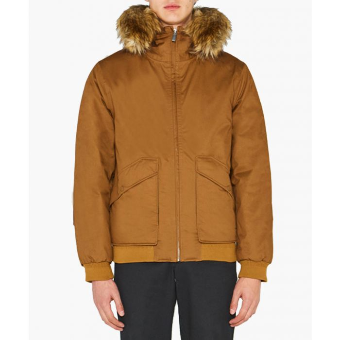 Image for Men's camel pure cotton insulated parka