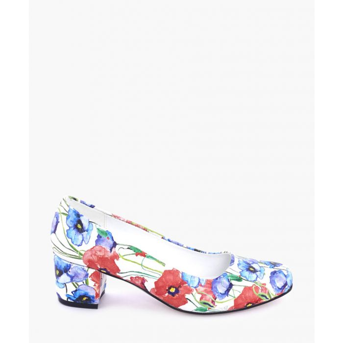 Image for Multi-coloured watercolour block heels