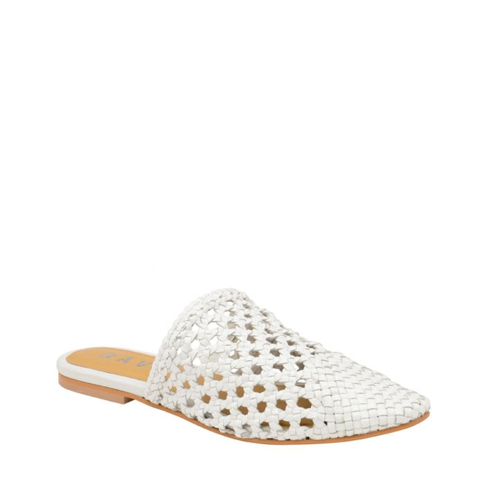 Image for White mesh slip-on mules