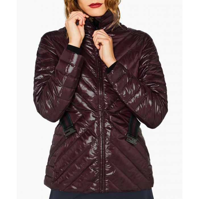 Image for Aubergine quilt down jacket