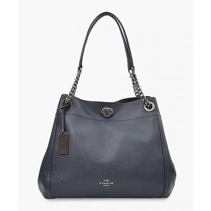 Image for Turnlock Edie leather shoulder bag