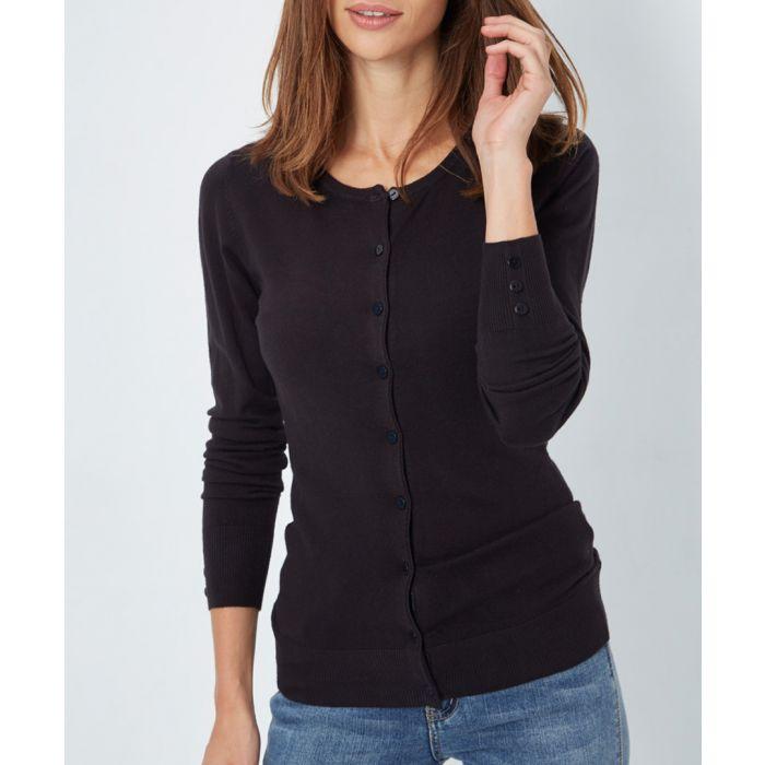 Image for Black cashmere blend cardigan