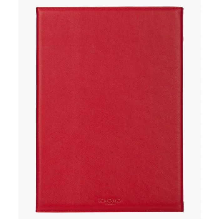 Image for Red leather iPad Air 2 folio case