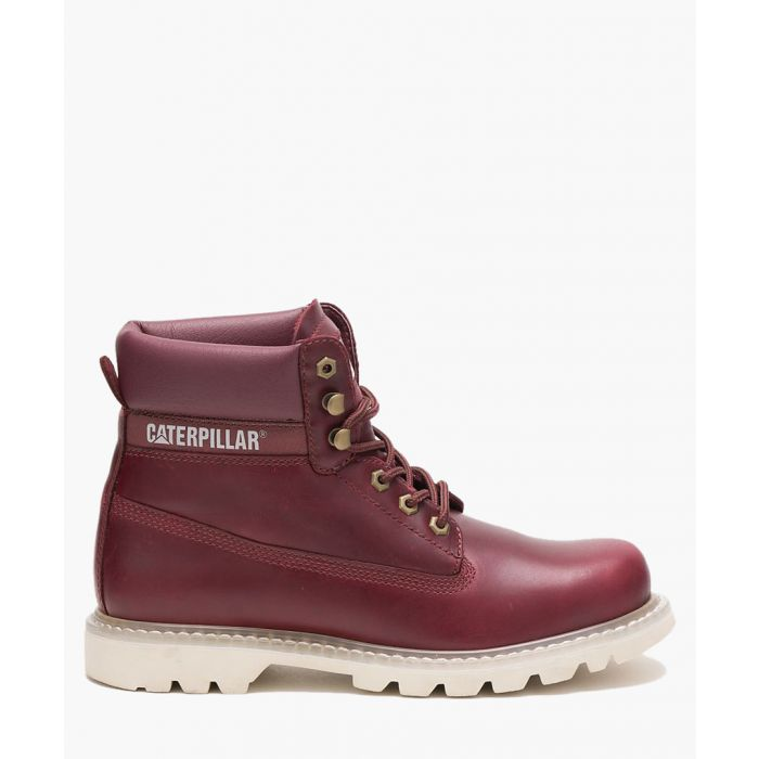 Image for Colorado burgundy leather lace-up boots
