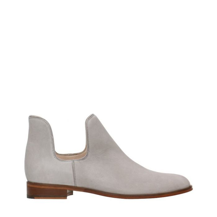 Image for Light grey nubuck cut-out boots