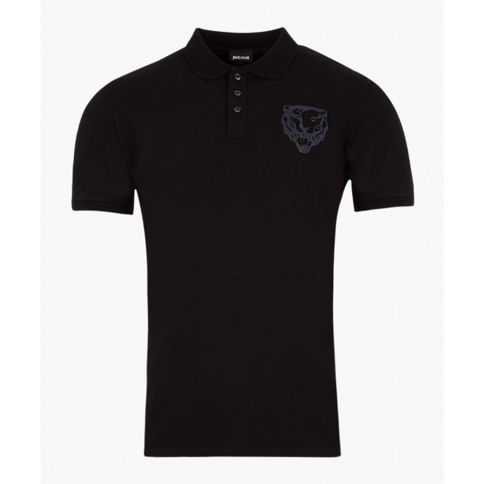 Image for Black cotton head logo polo shirt