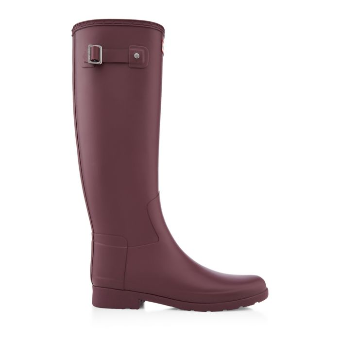 Image for Women's refined oxblood Wellington boots