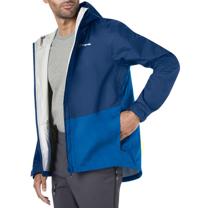 Image for Blue colour block jacket