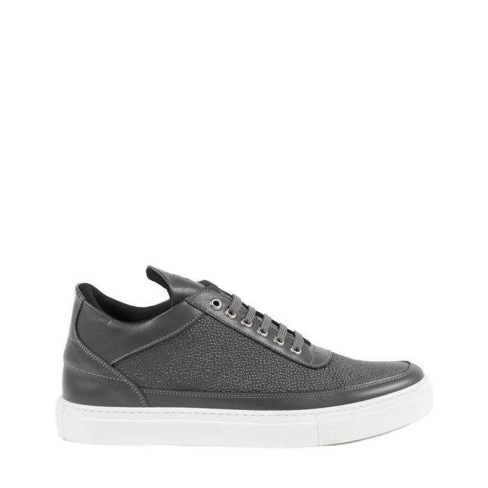 Image for mid grey  leather sneakers