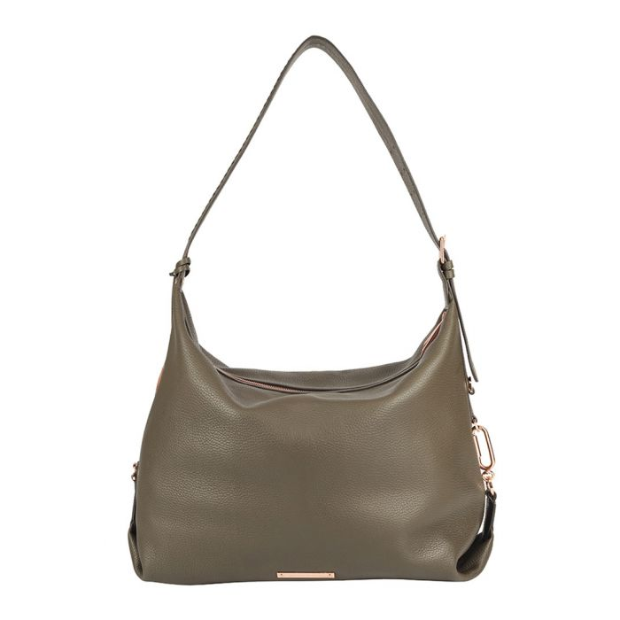 Image for The Costner taupe leather slouch bag
