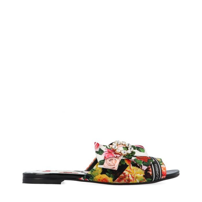 Image for Multi-colour floral slip-ons