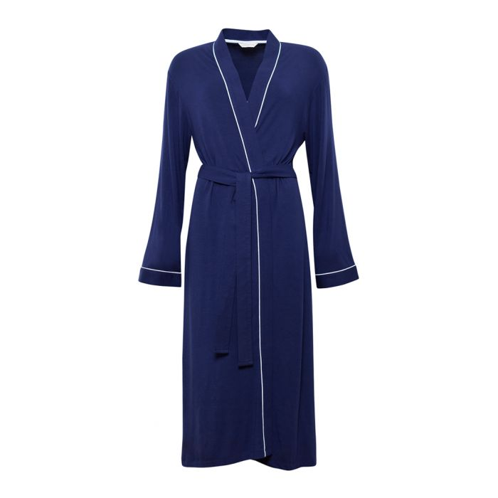 Image for Rosie deep blue long sleeve robe