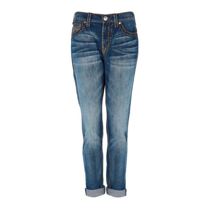 Image for Audrey blue pure cotton boyfriend jeans