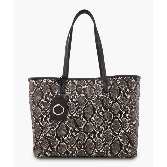 Image for Lorraine grey and black shopper