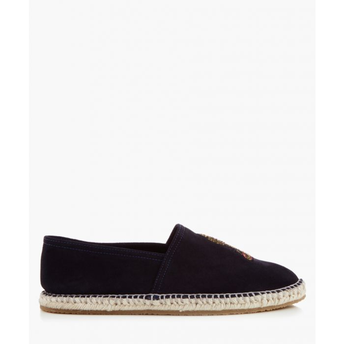 Image for Royston navy embroidered espadrilles