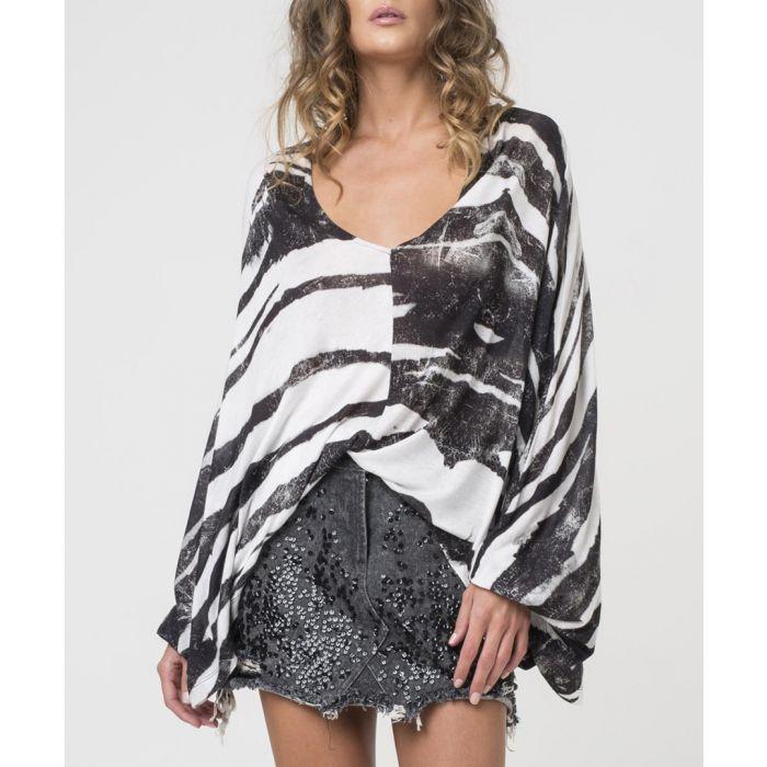 Image for Hunt print stripe asymmetric top