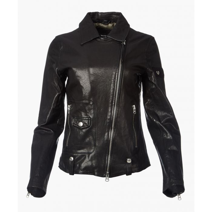 Image for Black sheep leather biker jacket